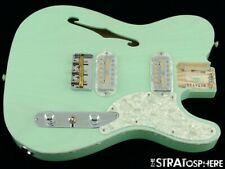 Fender Parallel Universe Magico Tele Thinline LOADED BODY Ash Surf Green USA
