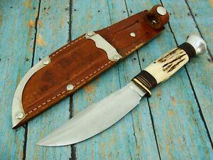 VINTAGE PONTUS HOLMBERG ESKILSTUNA SWEDEN STAG HUNTING BOWIE SCANDI KNIFE KNIVES