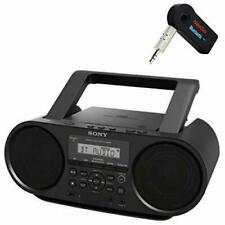 Sony Bluetooth Portable Cd Player Bundle with NeeGoo Digital Tuner AM/FM Radio - Black