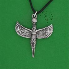 Englischer Zinn - Isis - Anhänger heidnisch Halskette Ägyptische