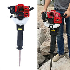 52Cc 2-Stroke Gas Demolition Jack Hammer Concrete Breaker Punch Drill Chisels Us