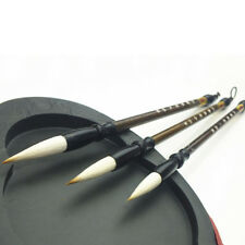 3Pcs Wool Chinese Calligraphy Brush Pen Art Painting Ink Storage Writing Tool