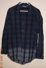 Von Zipper Men's Long Sleeve Dress Shirt. Dk Blue, Black, Grey. Size - Medium.