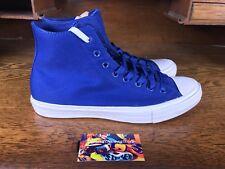Converse Chuck Taylor All Star II Mens Hi Skate Shoes Blue/White 150146C Sz 10