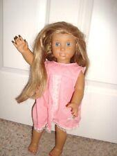 2008 American Girl Doll Blue eyes Blond Long Hair brown skin Like Me