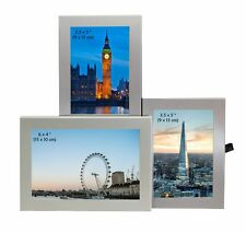 "3 Picture Silver Colour Photo Picture Frame 6 x 4"" and 3.5 x 5"" Multi Triple"