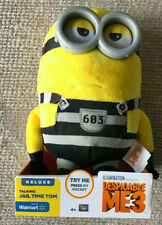 DESPICABLE ME 3 DELUXE TALKING JAIL TIME TOM PLUSH MINION NEW WALMART EXCLUSIVE