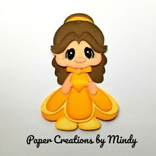 CRAFTECAFE MINDY DISNEY Princess Belle title premade paper piecing scrapbook