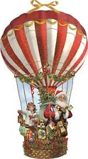 Large Deluxe Traditional Card Advent Calendar - Christmas Hot Air Balloon