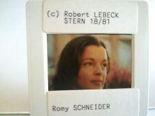 P02 Portrait Romy SCHNEIDER SUPERBE diapo par ROBERT LEBECK - Stern 1981