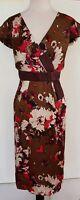 ANTHEA CRAWFORD Brown/Plum/Pink Silk Dress Size 14