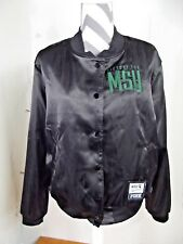 Victoria's Secret Pink LARGE Victory For MSU Michigan State Satin Bomber Jacket