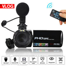 Full HD 1080P Digital Video Camera Camcorder YouTube Vlogging Recorder Set