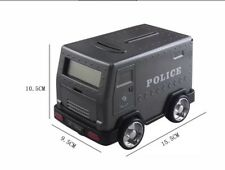 Novelty Police Car Alarm Clock Money Box Free Local Postage