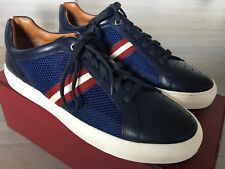 550$ Bally Herk Blue Leather and Nylon Sneakers size US 9.5