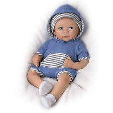 Ashton-Drake Galleries  Lifelike  Silicone Baby Boy Doll  CALEB w/Rooted Hair