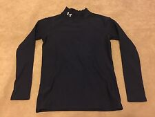 Under Armour Coldgear Youth Large Compression Mock Long Sleeve Shirt Black