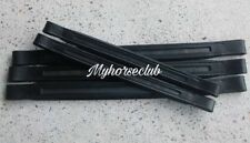 HIGH QUALITY GENUINE EMPTY CHANNEL BLACK LEATHER BROWBAND