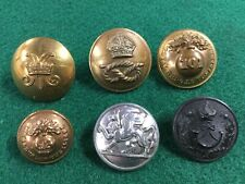 Lot Of Large British Military Regimental Uniform Buttons Victorian Era