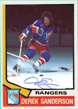 Custom made OPC 1974-75 New York Rangers Derek Sanderson hockey card