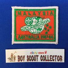 Boy Scout World Jamboree Australia 1987-88 Malaysia Contingent Patch