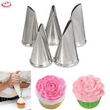 5pcs Russian Flower Icing Piping Nozzles Cake Decorating Tips Baking Tools NEW