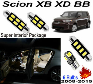 6pcs Super Bright LED SMD Interior Light Kit Package For Scion Xb Xd Bb 2008~Pre