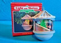 1987 Hallmark Keepsake Ornament Christmas Morning Magic Light & Motion MIB