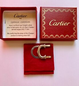 """Cartier argento """"silver"""" ferma soldi con scatola e certificato"""