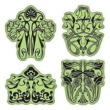 Inkadinkado Stamping Gear Cling Stamps, Art Nouveau Floral Patterns