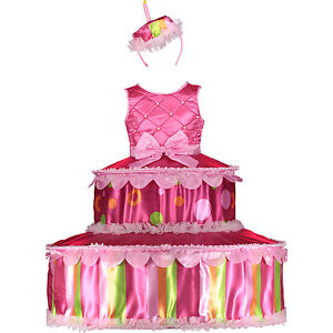 Bright Birthday Cake Outfit 3-4 Years