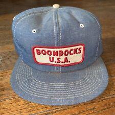 Vintage Boondocks USA Snapback Trucker Hat Cap K-Brand Products Patch Denim USA