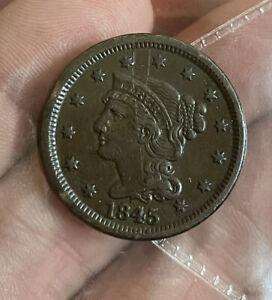 Us Large Cent 1845