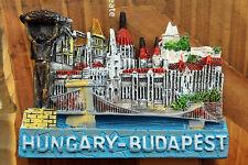 Hungary Budapest Landmarks Tourist Travel Souvenir 3D Resin Fridge Magnet Craft