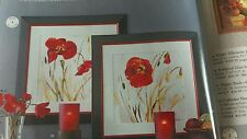 # Poppy Silhoutte Wood Framed Print Last One Home Interiors & Gifts Box GTC