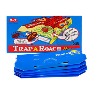 Hoy Hoy Trap-A-Roach Cockroach Traps with Food Bait Catches All Roaches 5 Sets