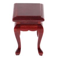 Mini Wooden End Table Tea Coffee Table For 1:12 Dollhouse Miniature Annatto