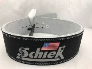 L Schiek Sports Model 7010 Lever Competition Power Weight Lifting Belt - Black