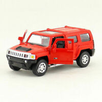 1:43 Hummer H3 Off-road Model Car Diecast Gift Toy Vehicle Pull Back Red Kids