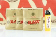 """3x AUTHENTIC Raw Rolling Paper Blunt Pocket Reusable Odor-Free Ashtray 3.5"""" x 3"""""""