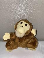 "Knickerbocker Vintage 6.5"" Monkey Plush Stuffed Animal Toy"