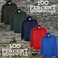 Uneek Premium Quality Heavyweight 1/4 Zip Polyester Micro Fleece Jacket Workwear