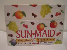 Sun-Maid Recipe Tin Holder with Recipes -  Fast Fruit Collection   2000