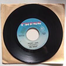 "BILLY STEWART Secret Love / Look Back 7"" 1966 Chess 1978 northern soul"