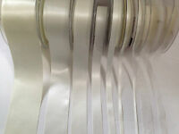 Berisfords BRIDAL WHITE 419 (not pure white)   Satin & Sheer Ribbon - 3 to 70mm