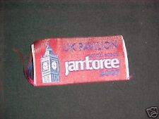 2007 World Jamboree United Kingdom Pavilion woven patch