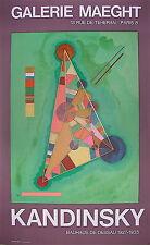 Vassily Kandinsky Affiche en Lithographie Bauhaus Abstraction Art Abstrait