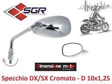 4310 - 1 Specchio Retrovisore in Metallo Cromato DX/SX per Scooter PIAGGIO