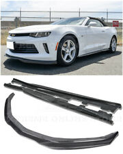 EOS T6 Style CARBON FIBER Front Lip Splitter W/ Side Skirts For 16-18 Camaro RS