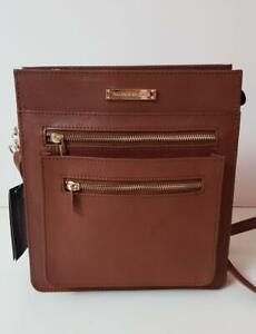 Elegant Brown CrossBody GENUINE Leather Handbag  (Sty102) -Crash Xmas Discount